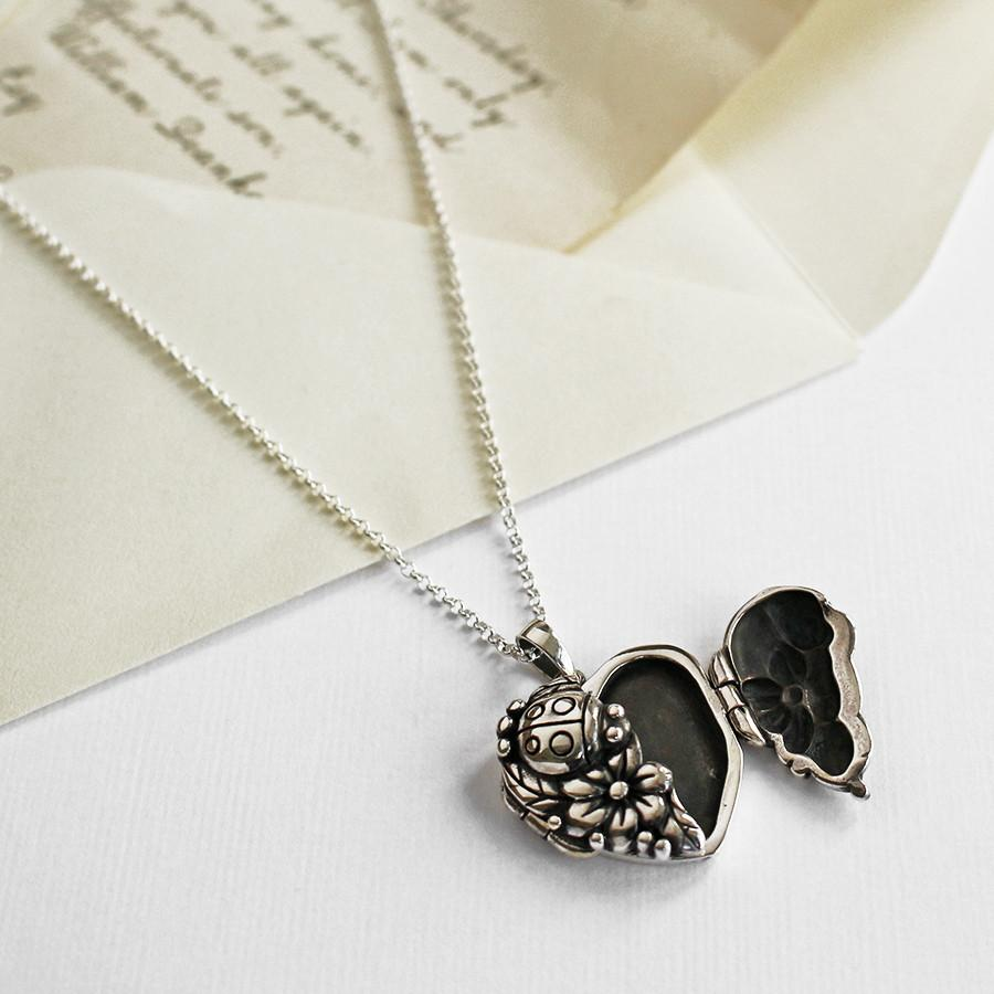 Silver Ladybird Locket