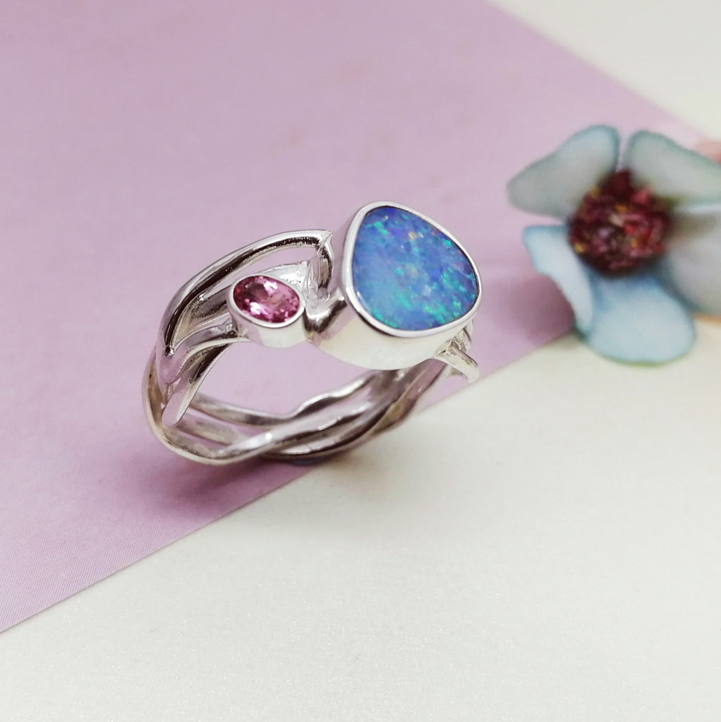 One-off Opal Drishti Ring - Size Q