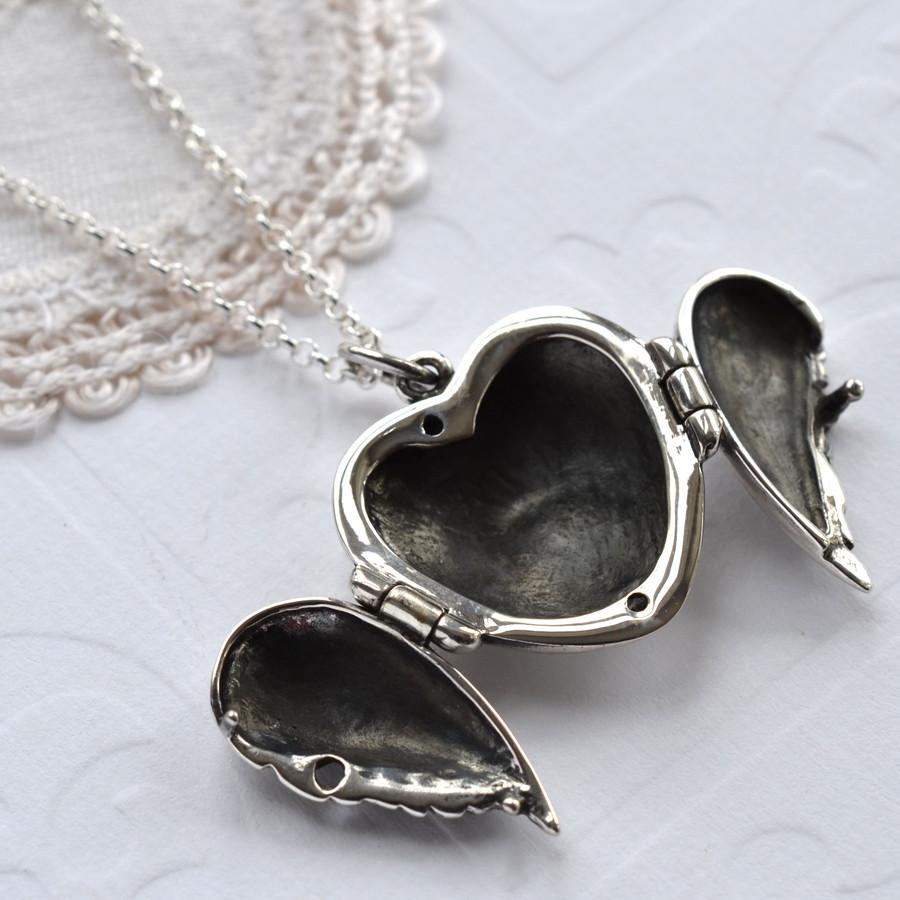 Silver Wings of Love Locket