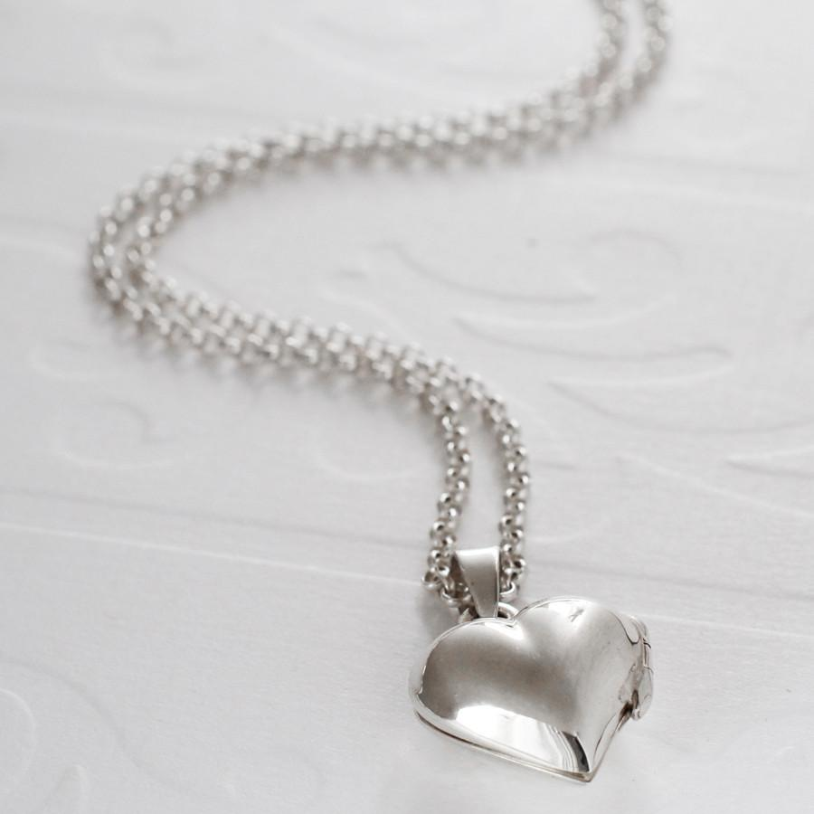 Silver Mini Heart Locket