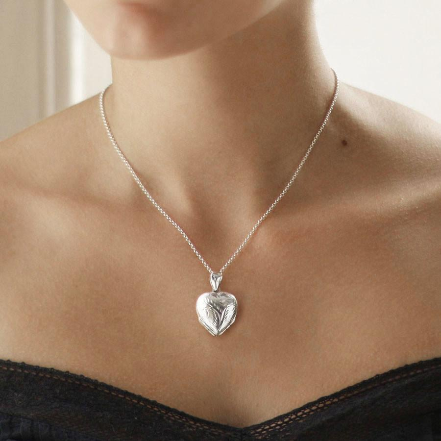 Silver Quadruple Heart Locket