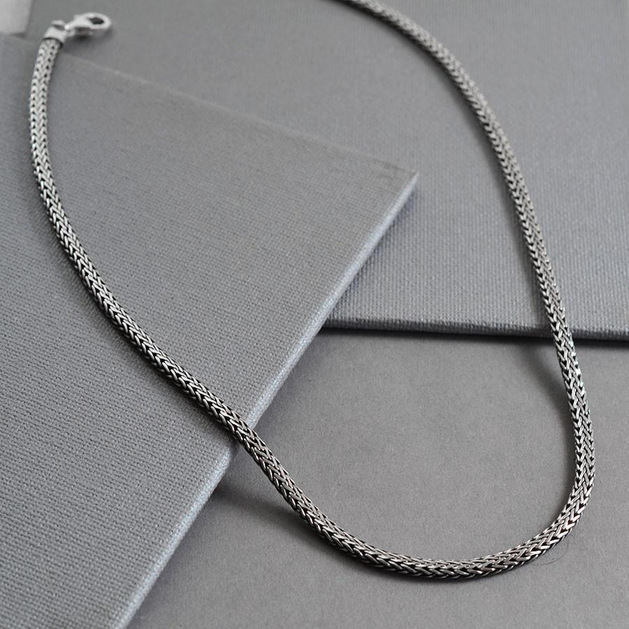 Silver Oval Indo Snake Chain