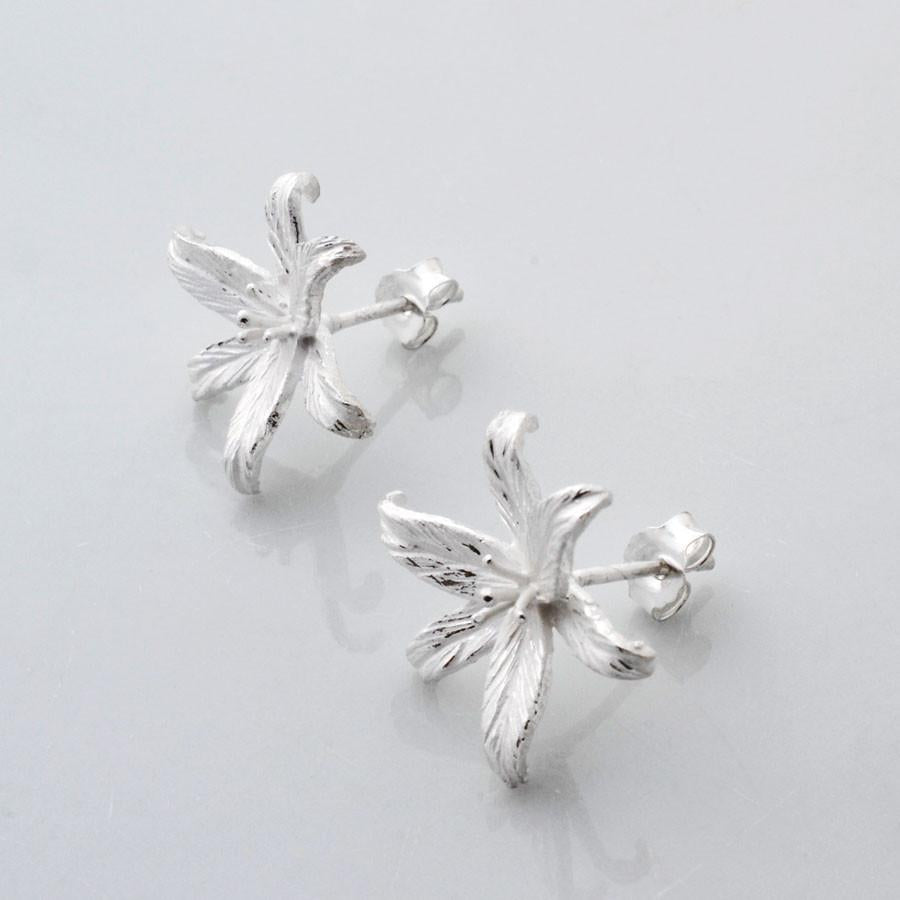 Silver Lily Studs