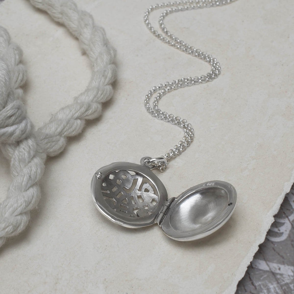 Silver Celtic Pattern Locket