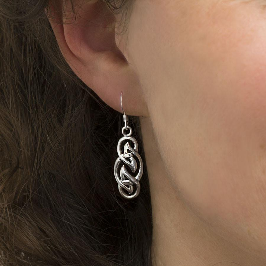 Silver Celtic Flame Earrings