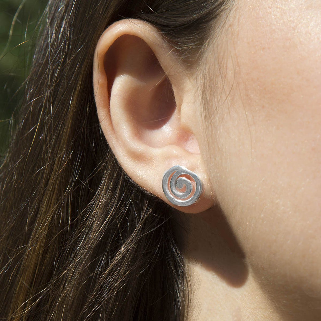 Silver Closed Spiral Studs