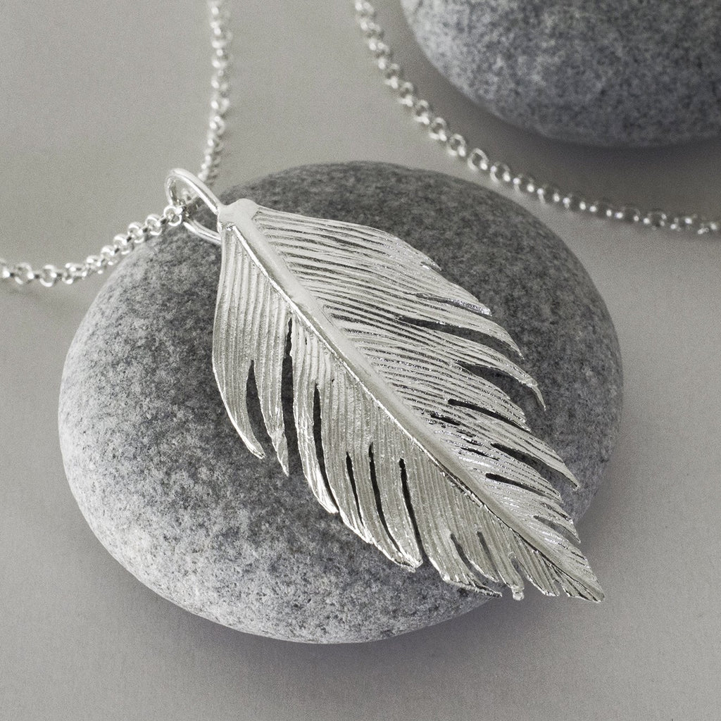 Silver Soft Feather Earrings