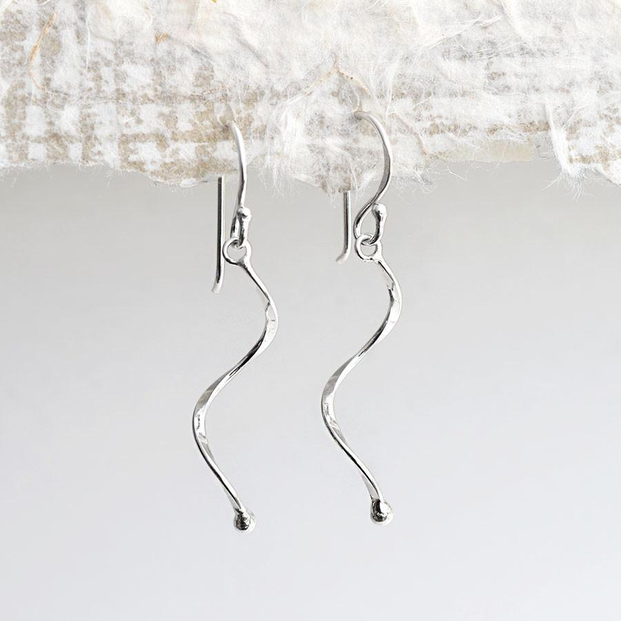 Silver Simple Wave Earrings