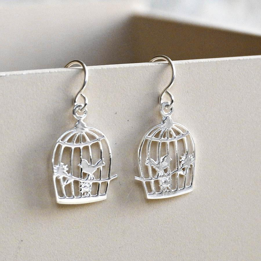 Silver Song Bird Earrings