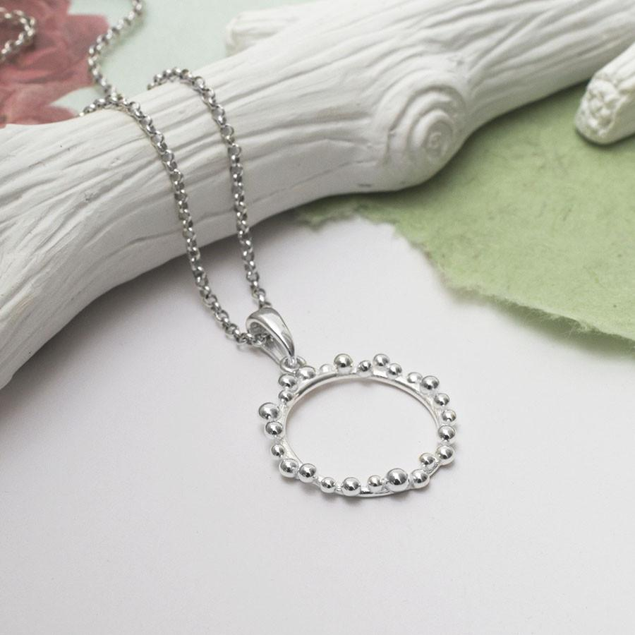 Silver Bauble Ring Necklace