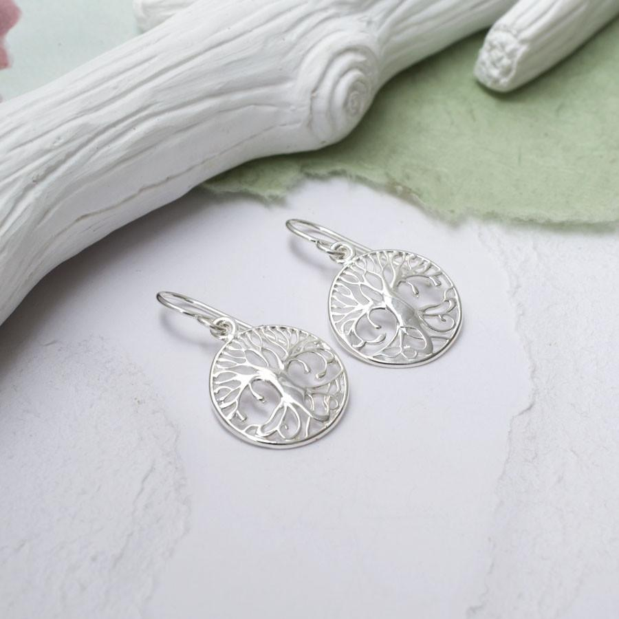 Silver Enchanted Tree of Life Earrings