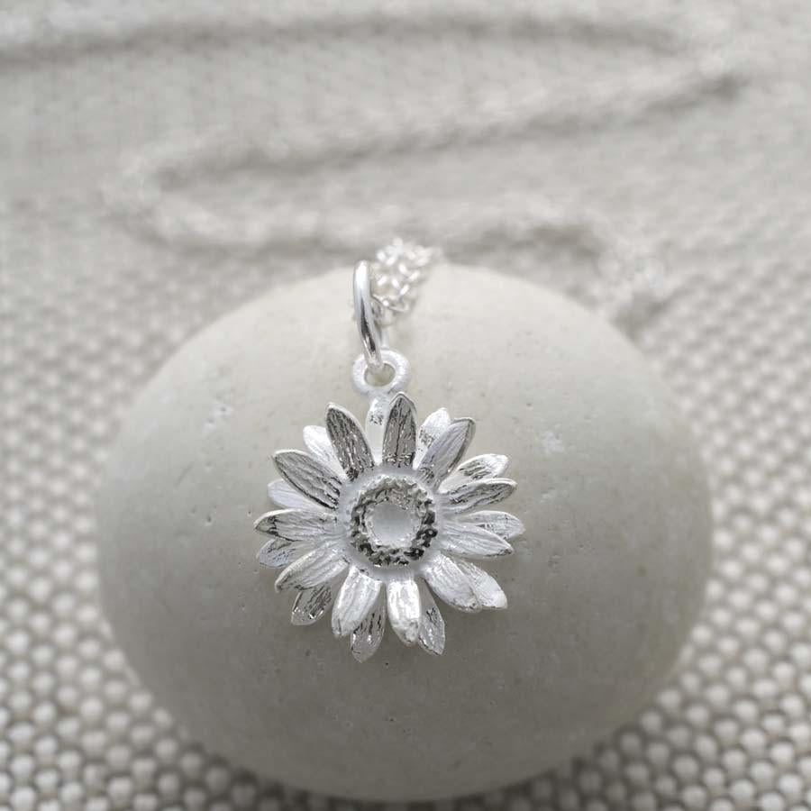 Sterling Silver Daisy Necklace by Martha Jackson