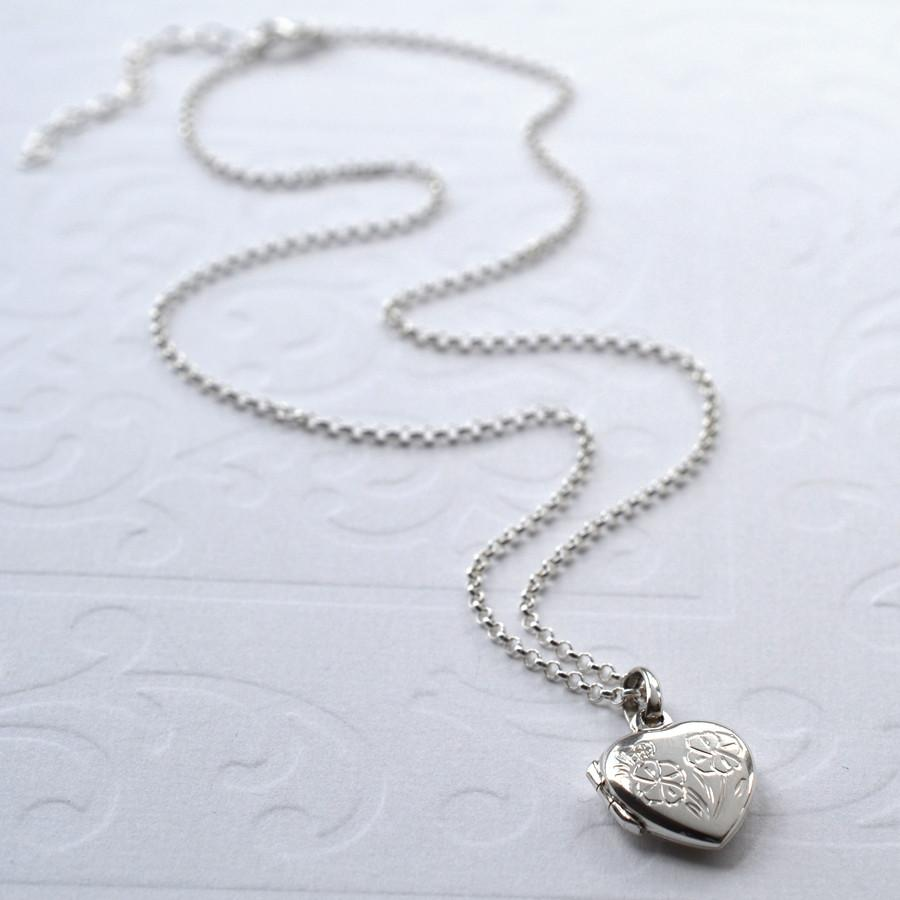 Silver Love in Bloom Locket