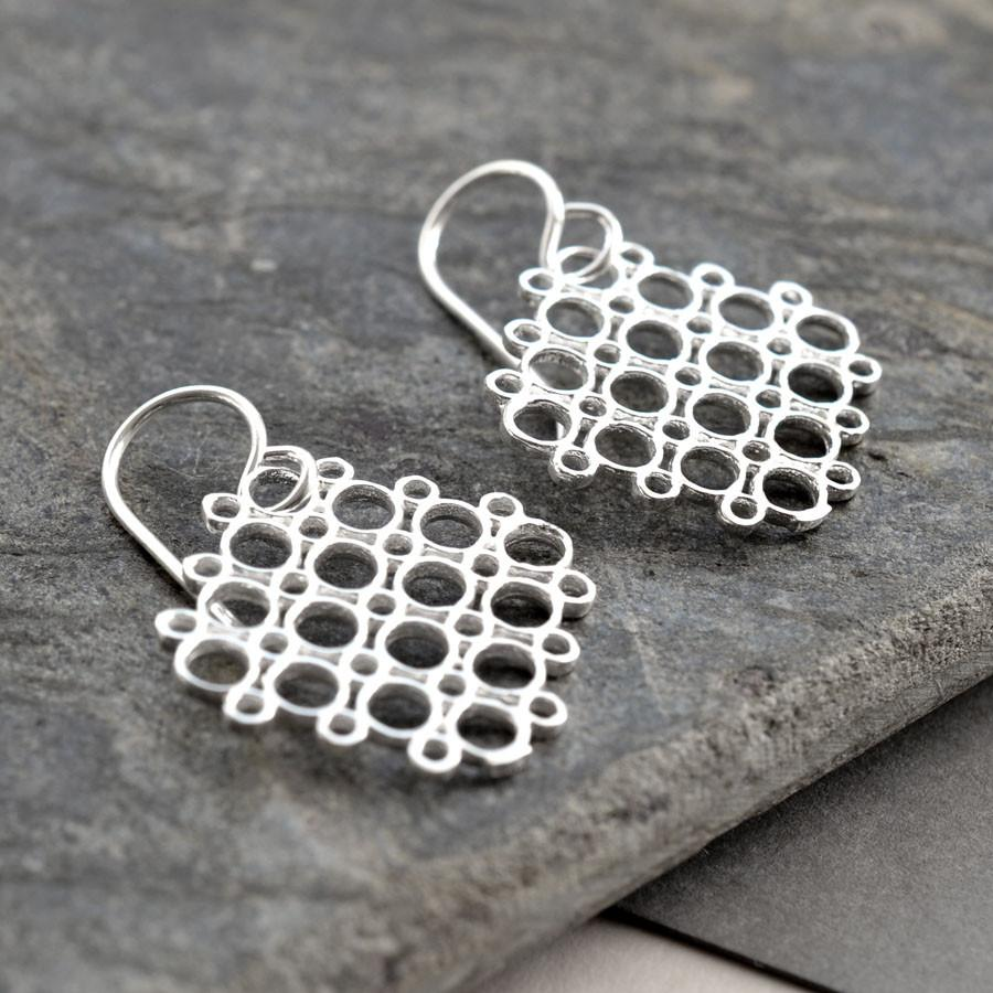 Silver Geometric Circles Jewellery by Martha Jackson