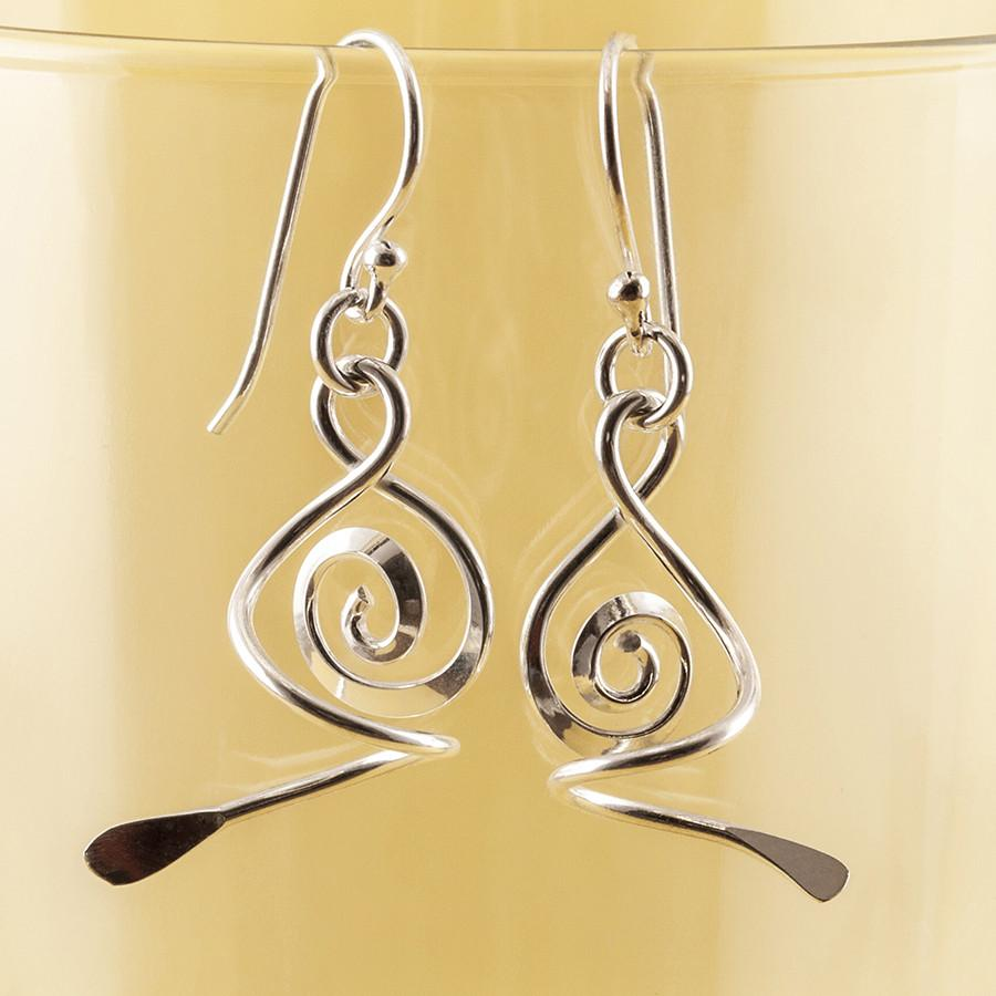 Silver Doodle Earrings