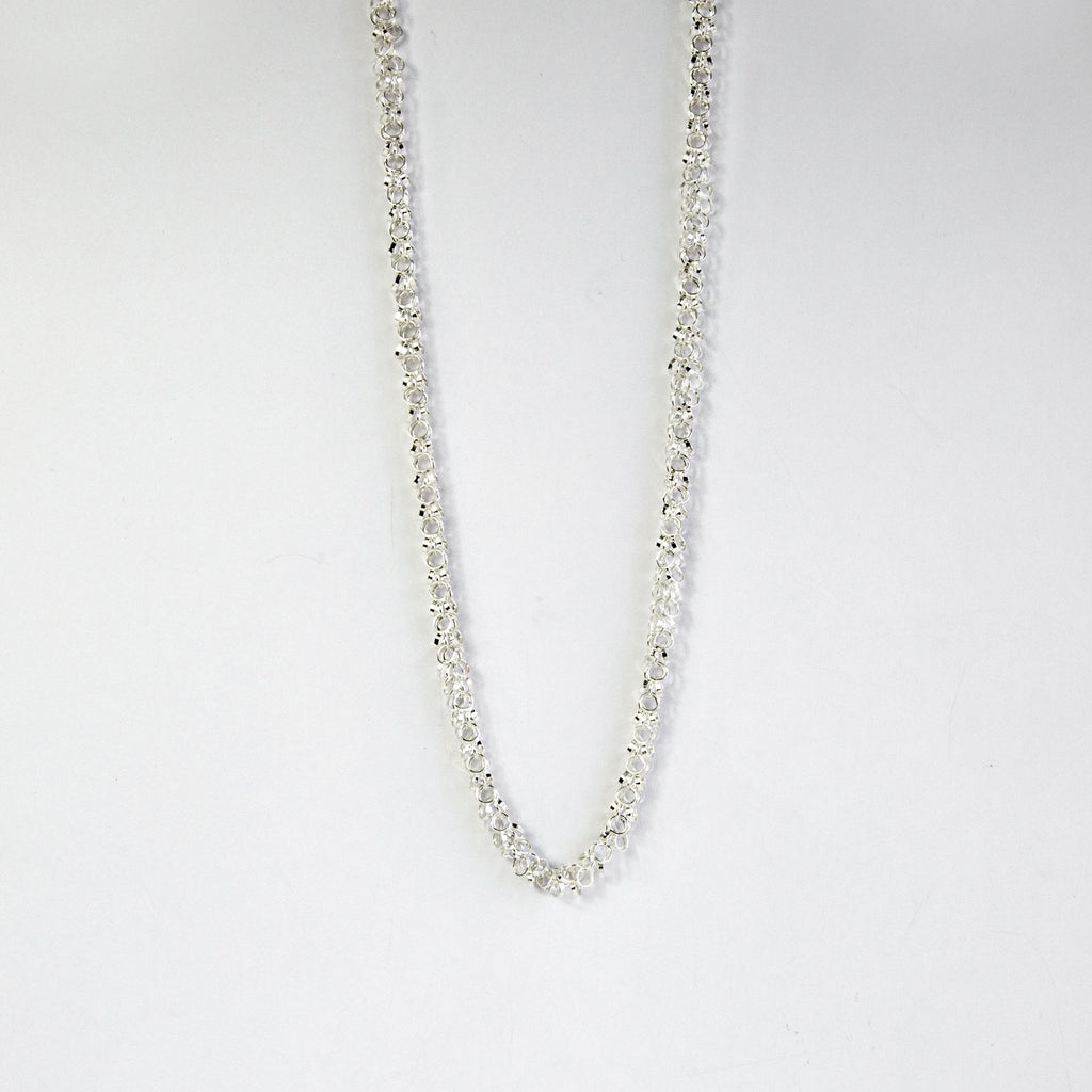 Silver Multi Link Necklace