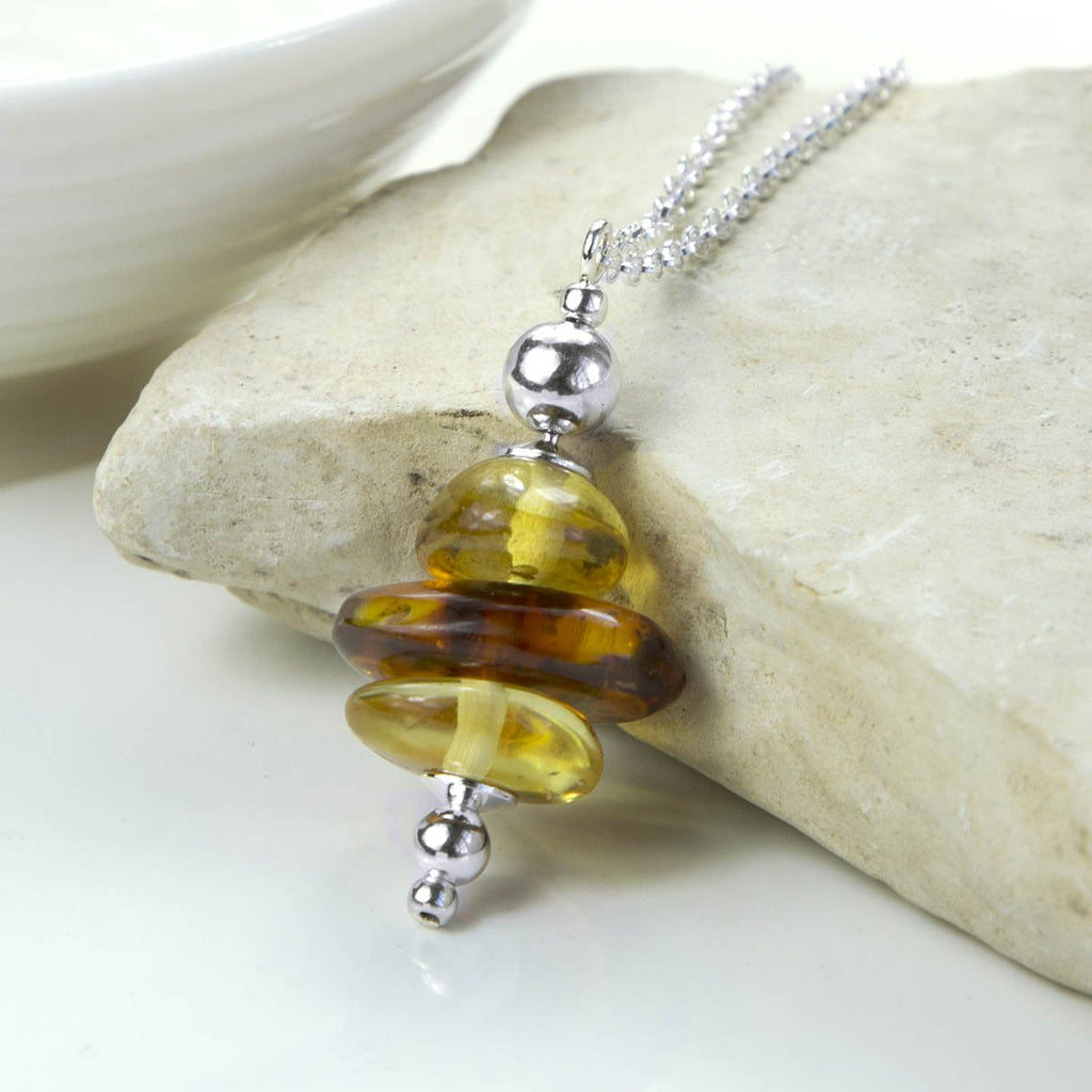 Amber Cluster Necklace
