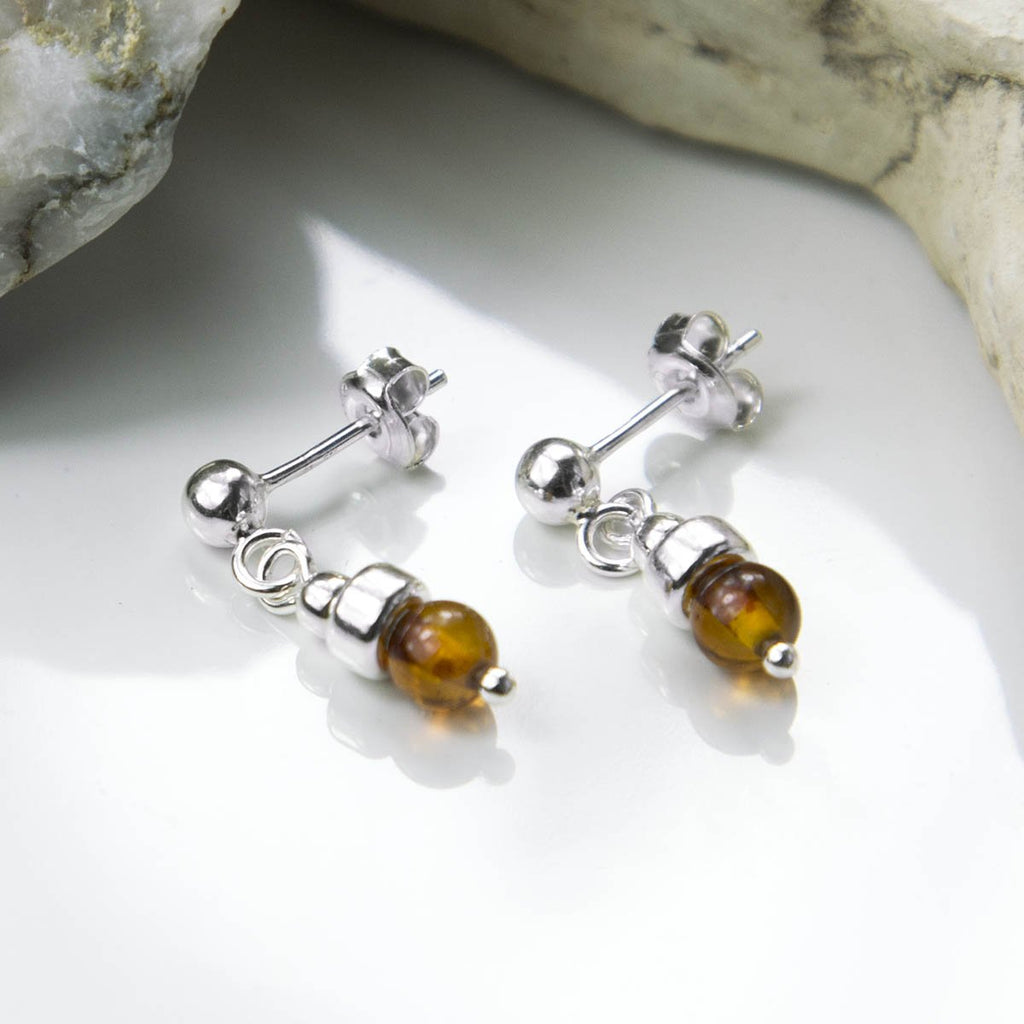 Amber Petite Drop Earrings