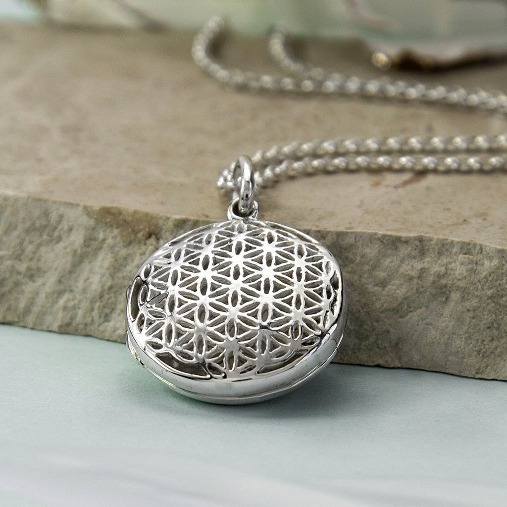 Silver Flower of Life Locket