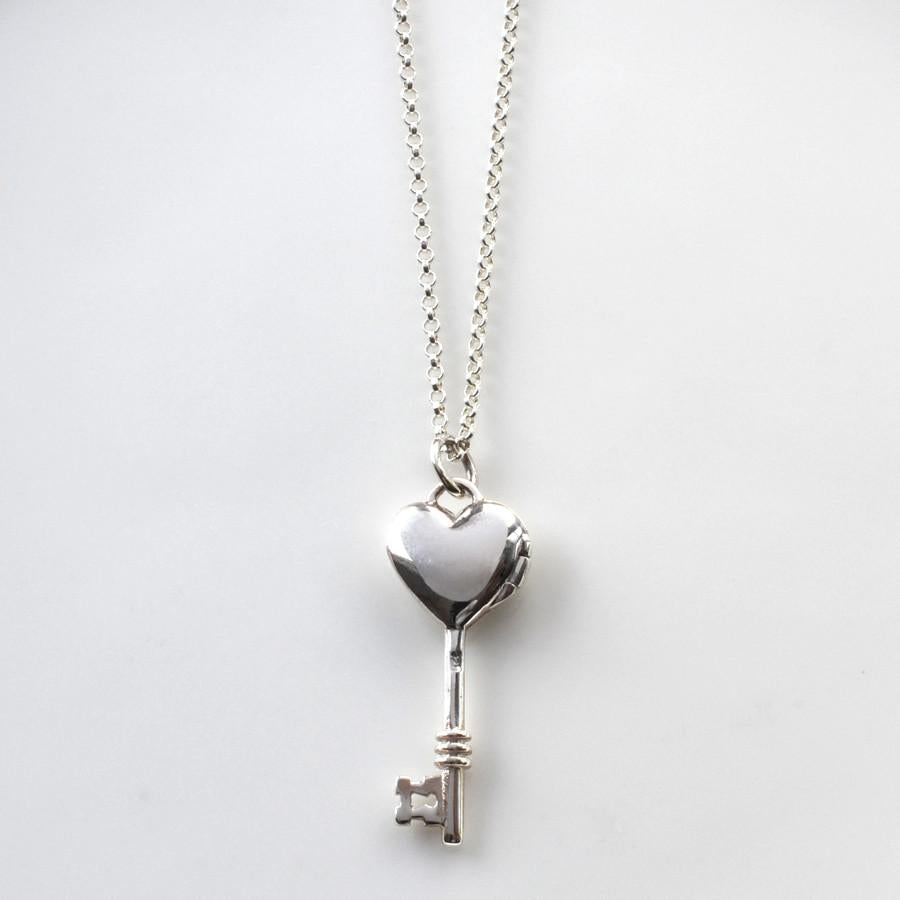 Silver Key Locket