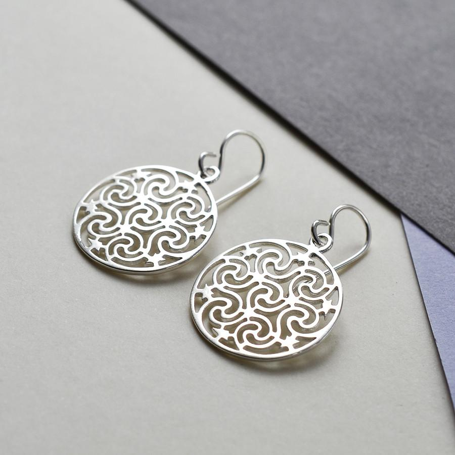 Silver Starry Night Earrings