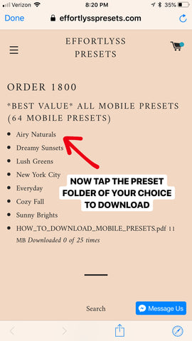 How To Download Our Mobile Presets – Shop Lyss Boss