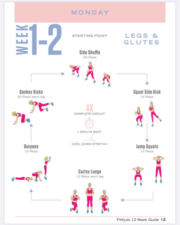 12 Week At Home Workout Guide