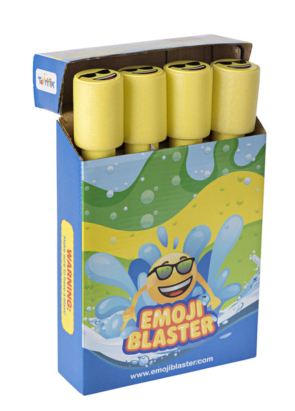 "4 Pack Emoji Water Blaster - 10.5"" Foam Water Gun - Light Weight Water Soaker - Water Shooter- Summer Pool Beach Water Toy For Kids"