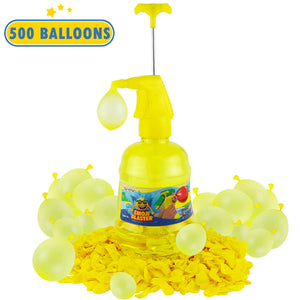 Water Balloon Pump Filler - Air and Water Easy Fill Portable Pump Station Water Blaster With 500 Balloons