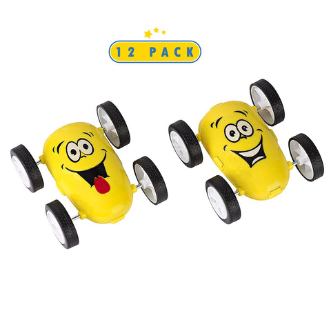 12 Pack Emoji Party Favors Friction Stunt Cars - Car Novelties Emoji Toys For Kids