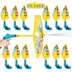 Emoji Umbrella Water Guns - Water Soaker Blaster Toy Gun Party Favors for Pool and Beach Parties for Adults and Children - 1 Dozen