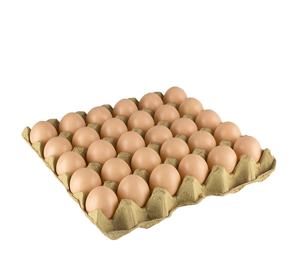 30 Fake Chicken eggs on Tray Realistic Egg Toy Food Playset For Kids - Pretend Play Artificial Kitchen Foods - Faux Eggs Home Decor