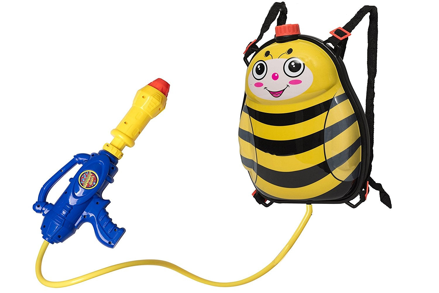 Toyrifik Water Gun Backpack Water Blaster For kids -Water Shooter With Tank Bumble Bee Toys For Kids- Summer Outdoor Toys For Pool Beach Water Toys For Kids