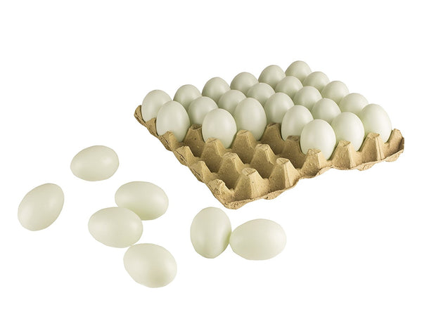 30 Fake Chicken Eggs On Tray Realistic Egg Toy Food Playset For Kids- Pretend Play Artificial Kitchen Foods - Light Green Faux Eggs Kitchen Decor