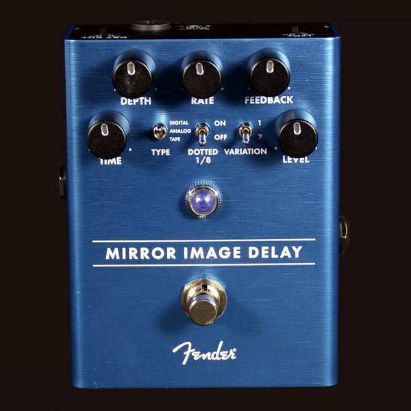 Fender Mirror Image Delay Effects Pedal Time Depth Rate Feedback Level (CHNI18001704)
