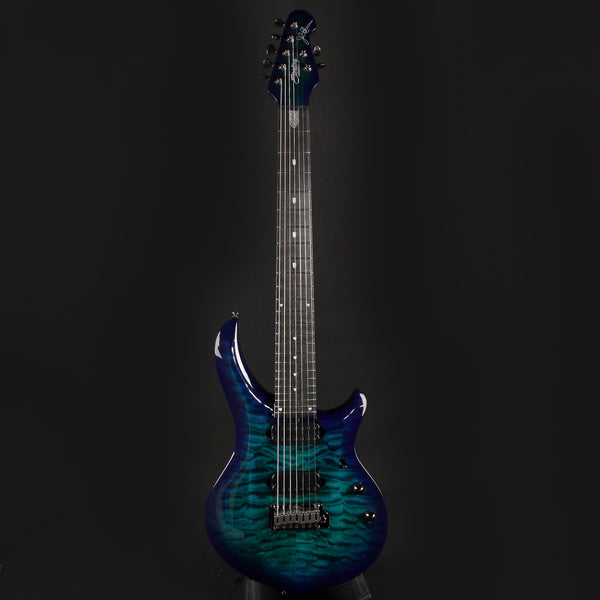 Sterling by Music Man Majesty MAJ270XQM 7-String Cerulean Paradise w/ DiMarzio Pickups (201118087)