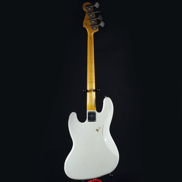 Fender Custom Shop 64 Jazz Bass Relic Olympic White Alder Body AAA Rosewood Fingerboard 2020 (8688)