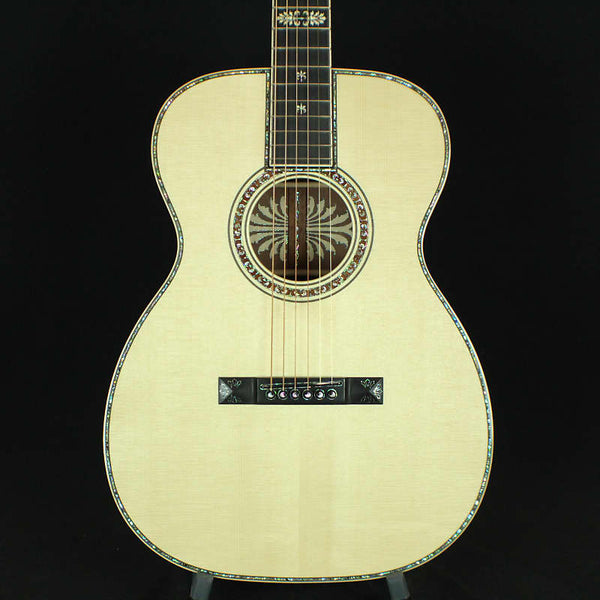 Martin Custom Shop OM 00-14F The Ornamental Italian Alpine Spruce Top, Curly Makore Namm Limited
