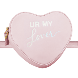 HEART-SHAPED CONVERTIBLE LYRIC BAG PINK