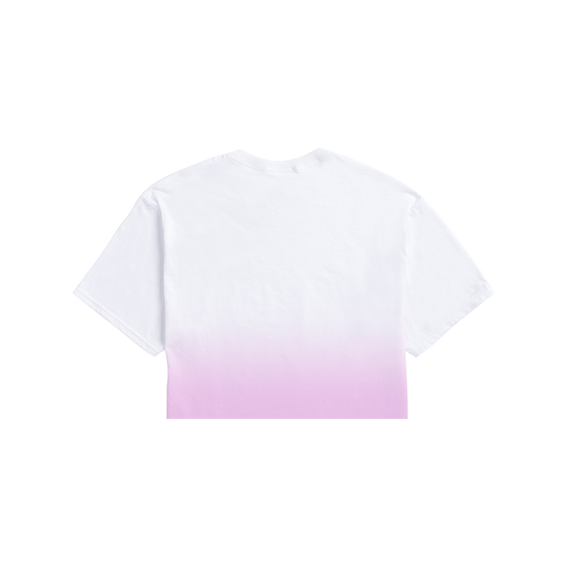 Album Cover Crop Tee (Pink and White Color Fade)