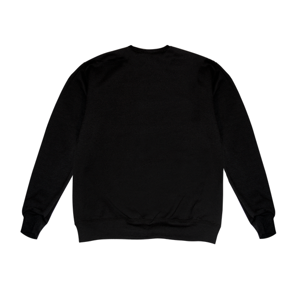 Black Crewneck With Hearts