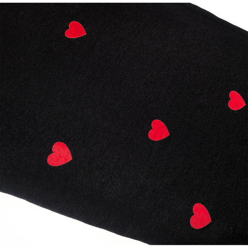 Black Joggers With Hearts