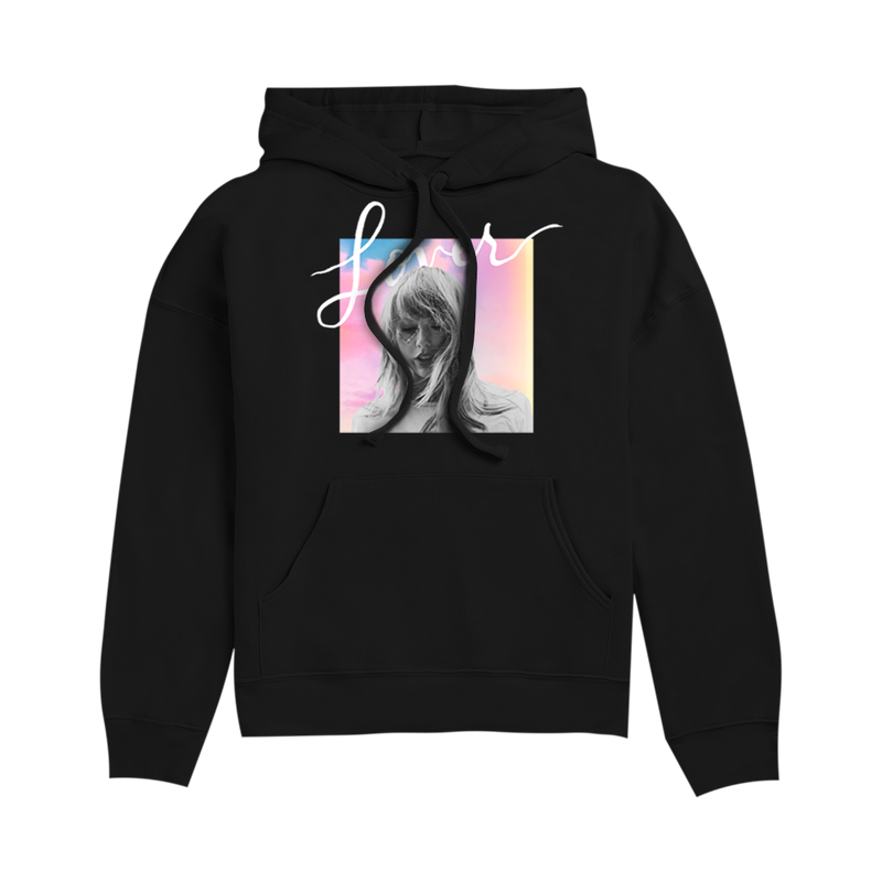 Black Hoodie with Album Cover Design