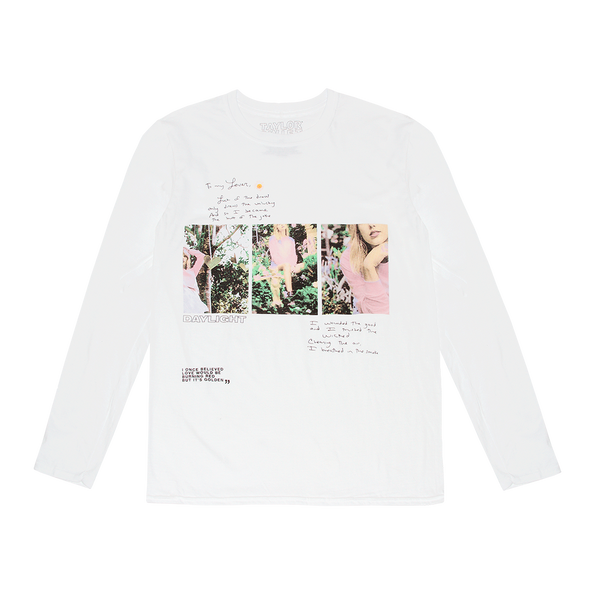 """Daylight"" Lyrics Long Sleeve Tee"