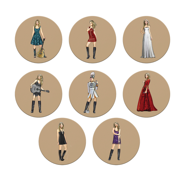 fearless (taylor's version) eras collection coaster set