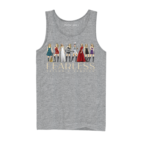 fearless (taylor's version) eras collection gray tank