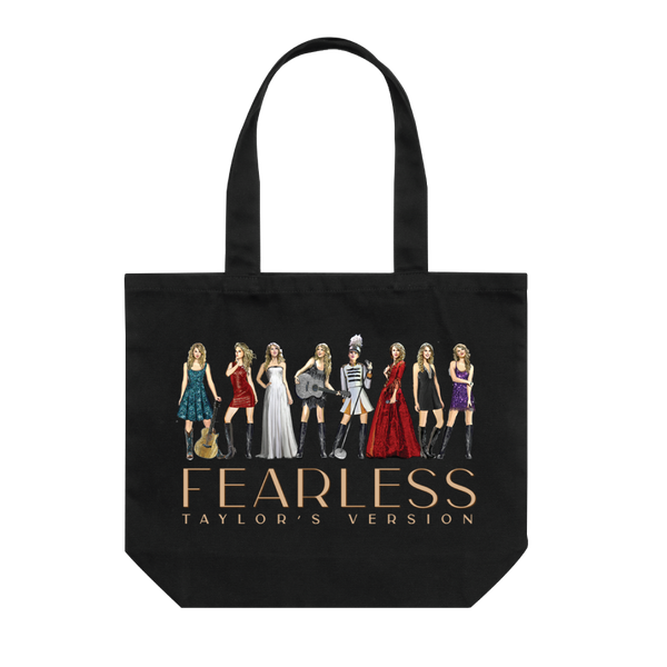 fearless (taylor's version) eras collection tote bag front