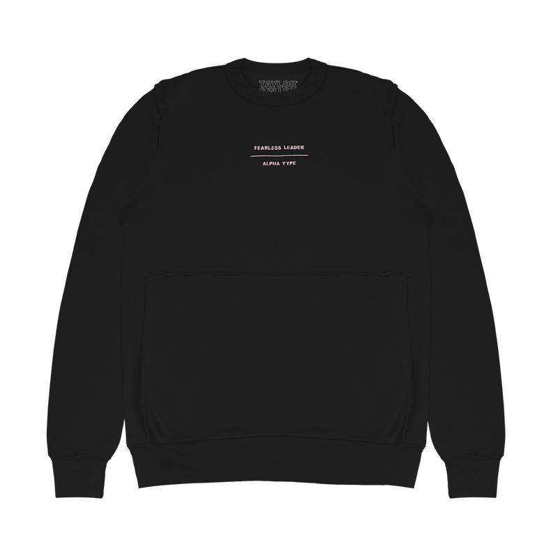 FEARLESS LEADER DARK GREY LONG SLEEVE CREWNECK