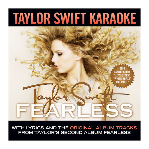 TAYLOR SWIFT - 'FEARLESS' KARAOKE CD