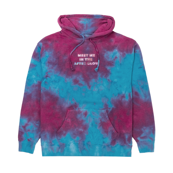Purple and Blue Tie-Dye Hoodie